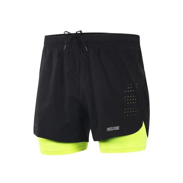 Zencart Hommes Sports 3 -running Shorts Exercice De Formation Active Jogging 2 En 1 Shorts Avec Longer Liner