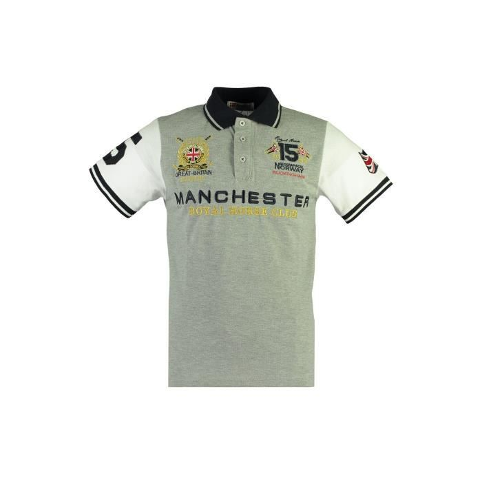 Polo Homme Geographical Norway Kingston New Gris Clair