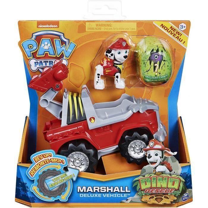 Véhicule deeluxe Pat Patrouille Dino Marcus Et Son 4 x 4 Tout Terrain De Pompier + Un Dinosaure Mystere NEW