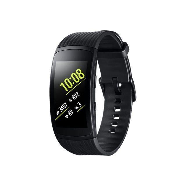 Samsung Gear Fit2 Pro Suivi d'activités avec sangle élastomère grande taille 1.5- 4 Go Wi-Fi, Bluetooth 34 g noir-SM-R365NZKADBT