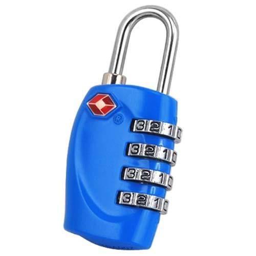 4-Chiffres TSA Cadenas à combinaison pour les bagages Valises et Voyage Bleu vif
