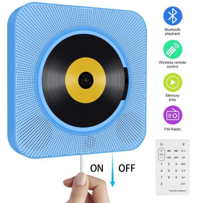 CHAINE HI-FI Lecteur CD Portable Mural Bluetooth Enceinte Hi-FI