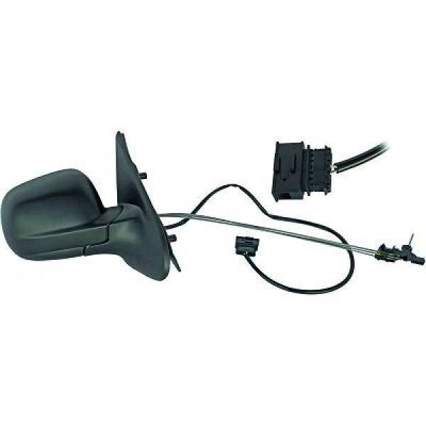 Rétroviseur extérieur droit manuellement Seat Ibiza 6k1 Cordoba Noir sans peinture