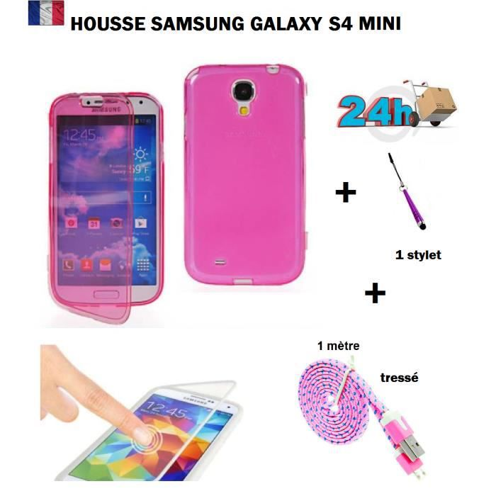 housse coque de protection rose samsung galaxy s4 mini. Black Bedroom Furniture Sets. Home Design Ideas