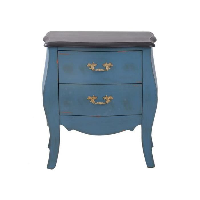 table de chevet bleu baroque de la marque vical achat vente chevet table de chevet bleu. Black Bedroom Furniture Sets. Home Design Ideas