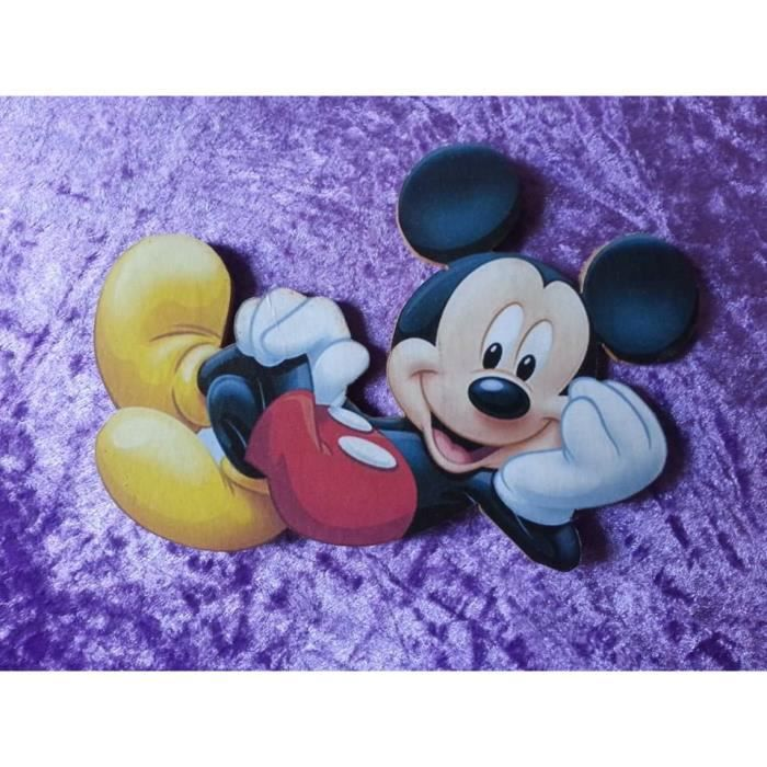 Decoration bois mickey porte armoire lit achat vente for Decoration maison mickey