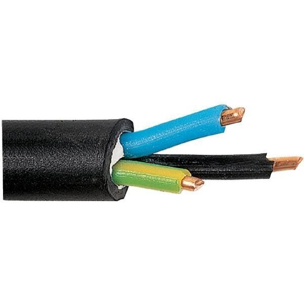 C/âble dalimentation /électrique U1000R2V 3G1,5 Noir 100m