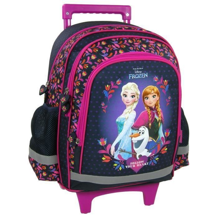 frozen sac a roulettes trolley sac a dos cartable cole enfant fille reine des neiges disney. Black Bedroom Furniture Sets. Home Design Ideas