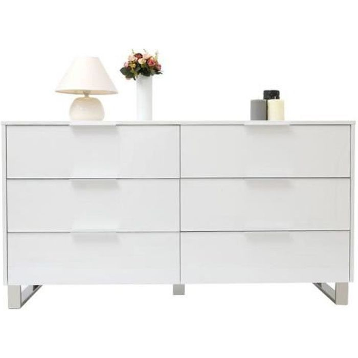 Commode design laqu e blanche halifax achat vente Commode blanc laque