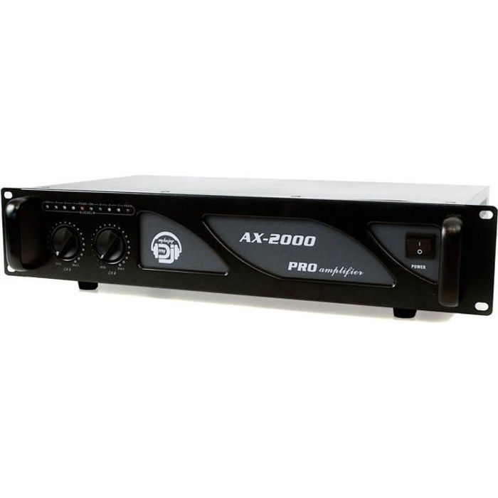 AMPLI PUISSANCE Amplificateur sono 2 x 1000W - AX-2000 MY DEEJAY