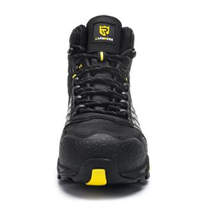 LARNMERN Chaussure de Securit/é Homme Legere,L9096 S1 SRC Embout en Acier Securit/é R/éfl/échissant Chaussure de Travail