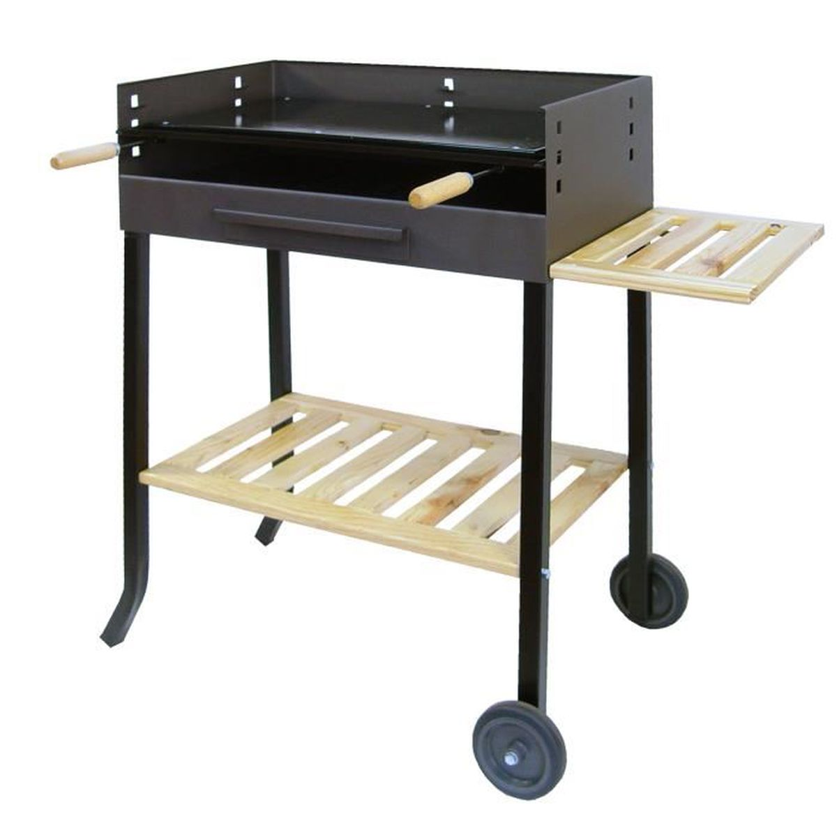 barbecue plancha en acier sur chariot achat vente barbecue barbecue plancha en acier cdiscount. Black Bedroom Furniture Sets. Home Design Ideas
