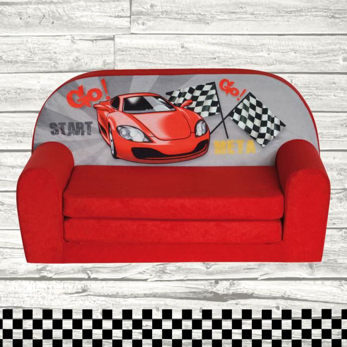 mini canap lit enfant racing achat vente fauteuil canap b b 2009817832994 soldes. Black Bedroom Furniture Sets. Home Design Ideas
