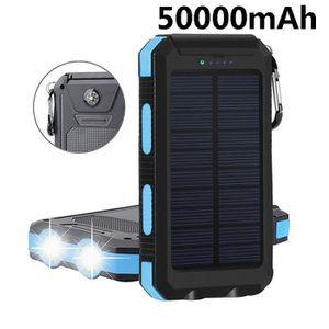 BATTERIE EXTERNE Banque d'énergie solaire imperméable portative de