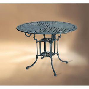 TABLE RONDE DE 90CM À DESIGN CLASSIQUE FAITE EN FONTE D\'ALU ...
