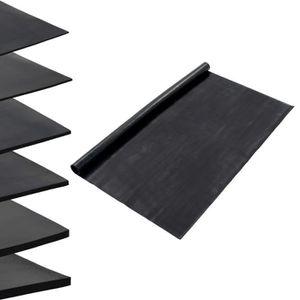 Tapis de Sol antid/érapant en Caoutchouc Motif Stries Fines Noir 2 x 1 m /Épaisseur 3 mm pro.tec