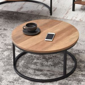 TABLE BASSE Table basse / table de salon - KODIA - effet noyer