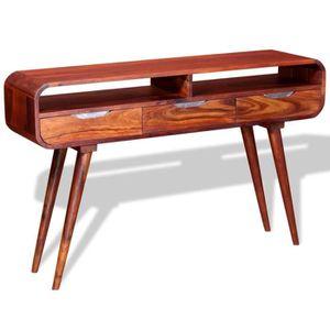 TABLE BASSE Table Console Table d'entrée en Bois de Sheesham M