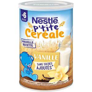 CÉRÉALES BÉBÉ NESTLÉ P'tite Céréale Vanille - 400 g - Dès 6 mois