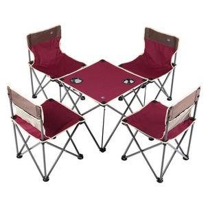 chaise pliante de avec Table camping hQrxsdtC