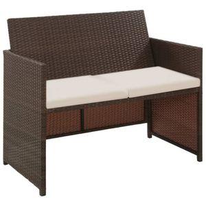 FAUTEUIL JARDIN  Canapé à 2 places Chaise de jardin Résine tressée