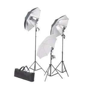 KIT STUDIO PHOTO Ensemble d'éclairage de studio: Trépieds et parapl