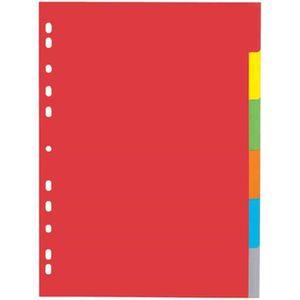 Protège-document Intercalire carton, A4, 6 touches, 6 couleurs