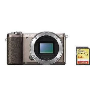 APPAREIL PHOTO RÉFLEX SONY A5100 Body Brown + 64GB SD card