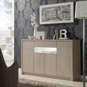 BUFFET - BAHUT  Buffet 4 portes 1 tiroir Chêne clair 180 cm - BOTE