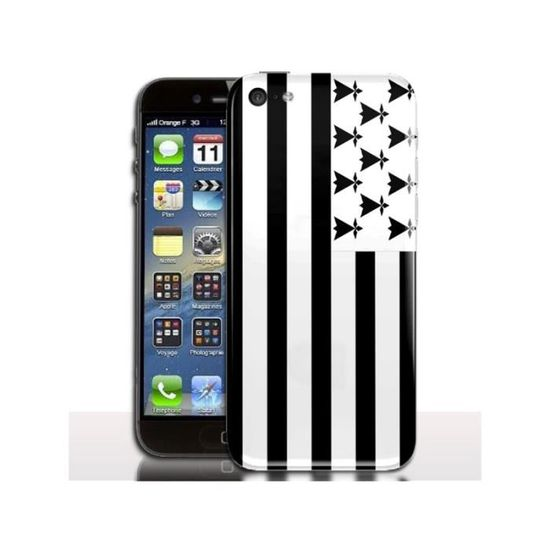 coque iphone 5c drapeau bretagne