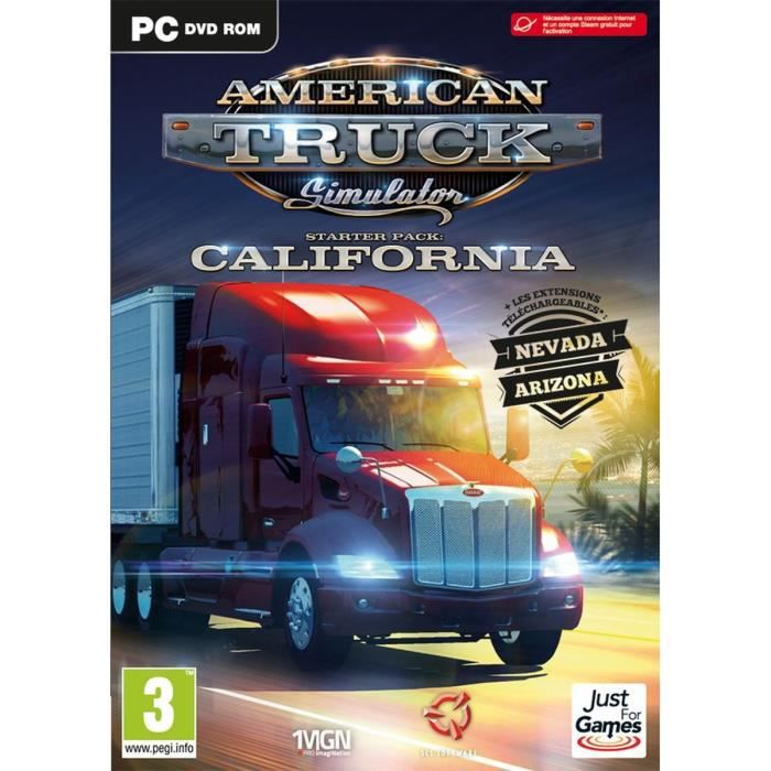 american truck simulator jeu pc achat vente jeu pc american truck simu pc cdiscount. Black Bedroom Furniture Sets. Home Design Ideas
