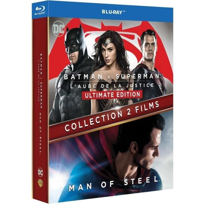 BLU-RAY FILM Batman vs Superman + Man of Steel - Coffret Blu-Ra