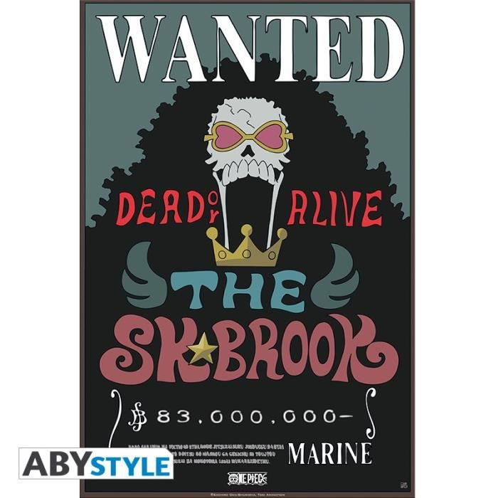 One Piece Poster Wanted Brook new
