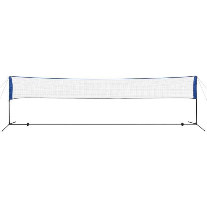 KAI Filet de badminton avec volants 600 x 155 cm
