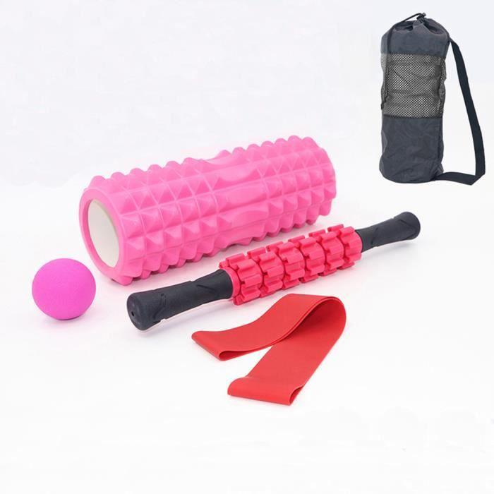 5PC Yoga Foam Roller Set Spiky Massage Muscles Roller Resistance Band Avec Sac Équipement de yoga 869