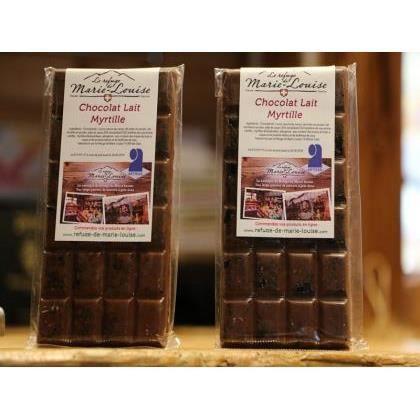 Chocolat de Savoie au lait myrtille