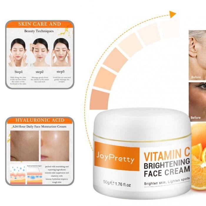 50 ml hydratant anti-âge blanchissant extraits de plantes vitamine C crème éclaircissante pour le visage pour dames style--50ml