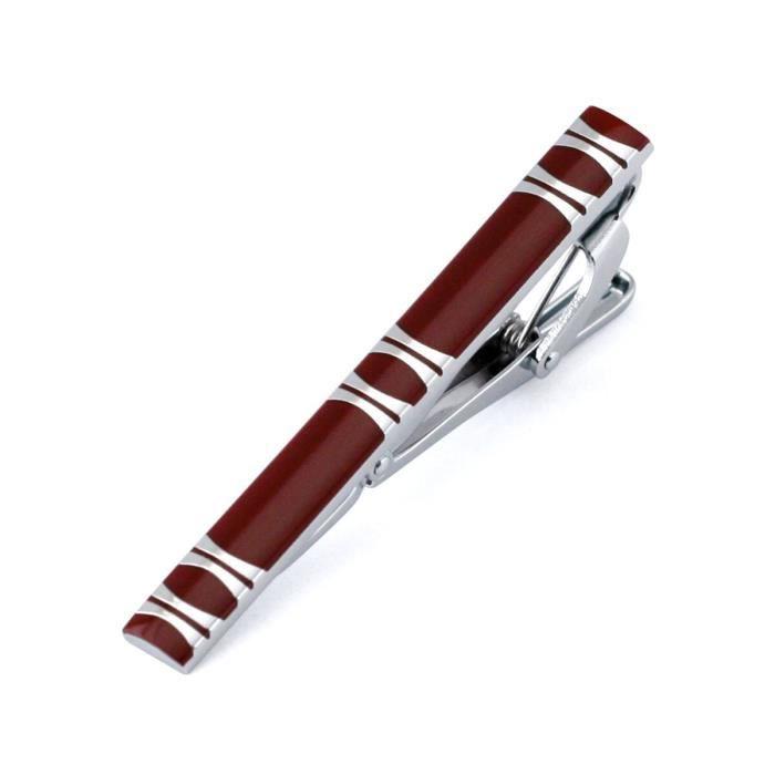 Hi Tie 55 Styles nouveau haute qualité laser gravure pince à cravate barre mode or argenté noir hommes d'a LD30887