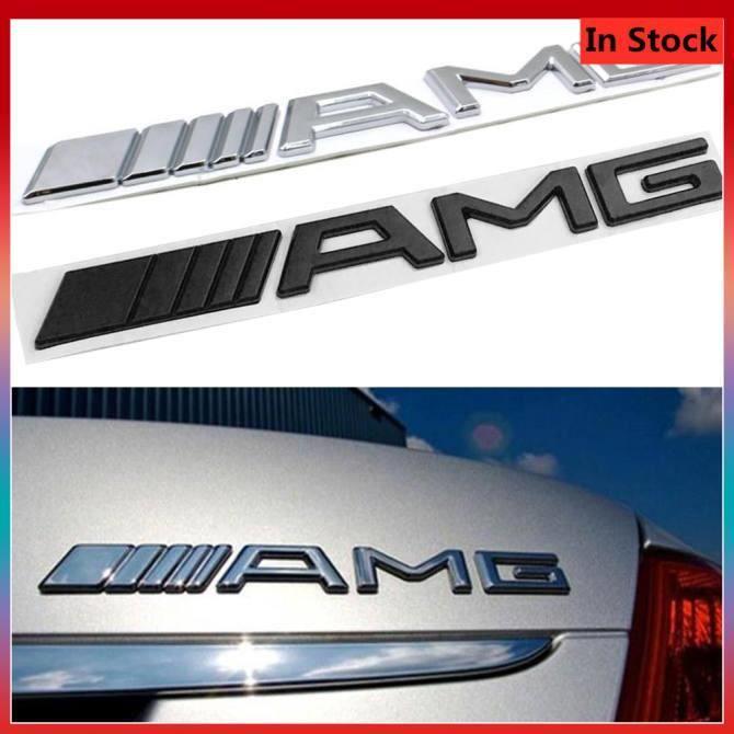 AMG Lettres Carbon Arrière Corps Décalque d'autocollant Emblem Badge Décoration pour Benz