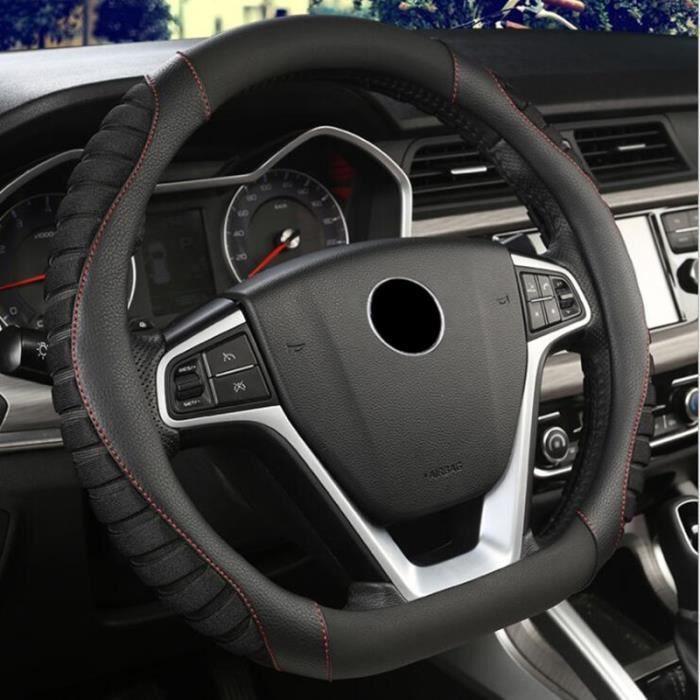 Couvre volant,Housse de volant de voiture, pour citroën C3 XR C4 Sega C4L Elysee DS3 DS4 DS5 DS3 Audi TT RS7 S3 S5 SQ5 - Type Black