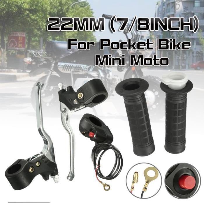 Pièces Auto,Levier de frein à gaz, 22mm, 7-8 pouces, 1 ensemble, poignée, interrupteur marche-arrêt, pour Pocket Bike, Mini Moto