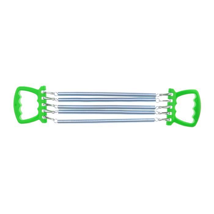 Expanseur Thoracique - Exerciseur Pour Enfants - Garçons Filles - 5 Ressorts - Appareil De Musculation - Plusieurs Couleurs vert