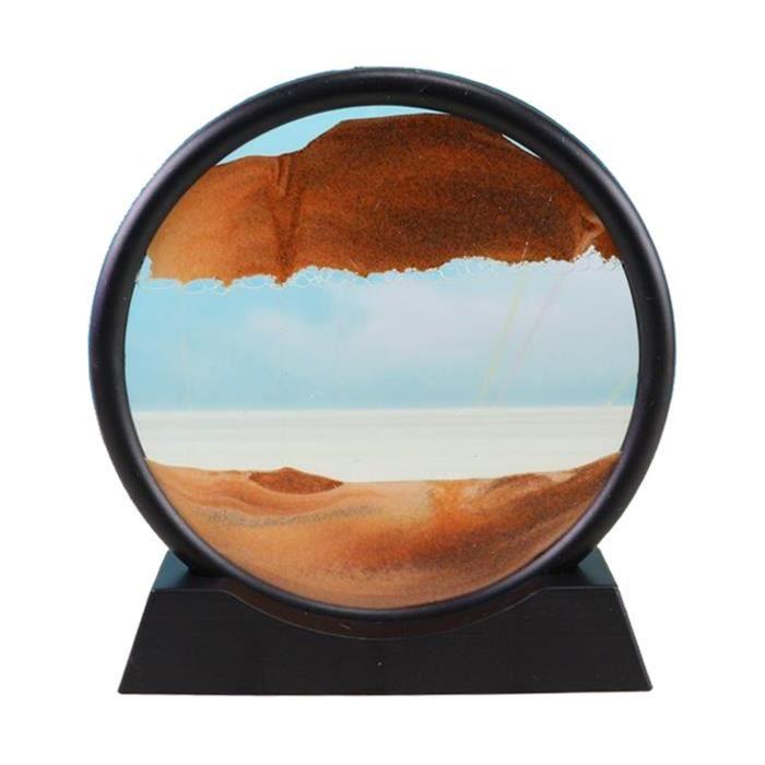 Sables mouvants Image, verre Qui Coule Sable Quicksand Peinture Sables Mouvants Art Sable-paysages en Mouvement de Bureau Art Jaune