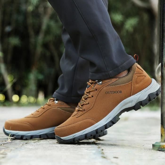 Hommes Sports de plein air Hommes Chaussures d'été Mesh Casual Hommes Chaussures de randonnée marron