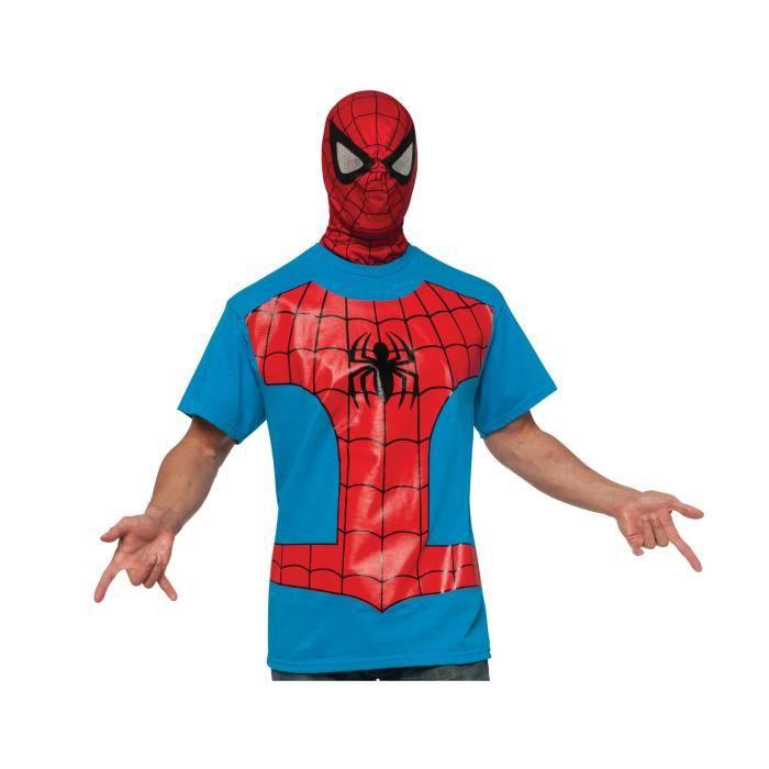 T-shirt avec cagoule Spiderman adulte