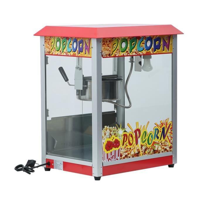 Machine à pop-corn 1400W appareil à maïs en style classique rétro pour cinéma parc