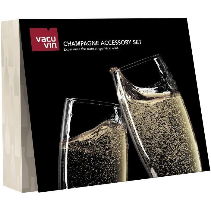 VACU VIN Coffret accessoires à Champagne - 3 pièces