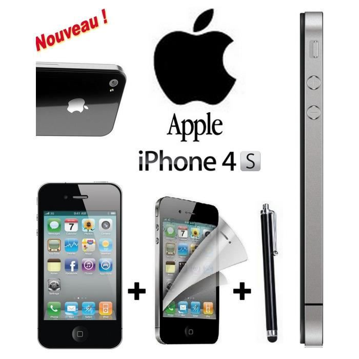 offre eclair apple iphone 4s noir 16 giga achat. Black Bedroom Furniture Sets. Home Design Ideas