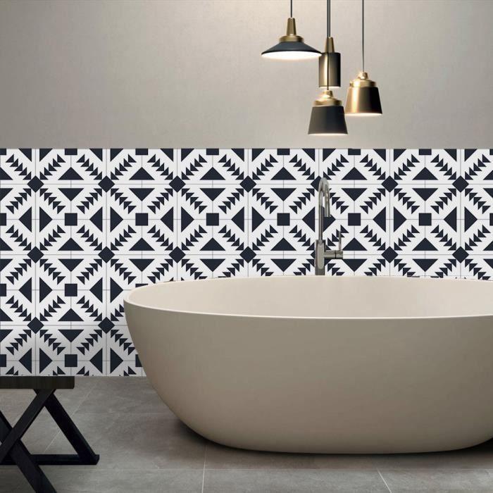 48 pcs 10x10cm carreaux autocollants cuisine salle de bains carrelage décor autocollant Mosaïque décor