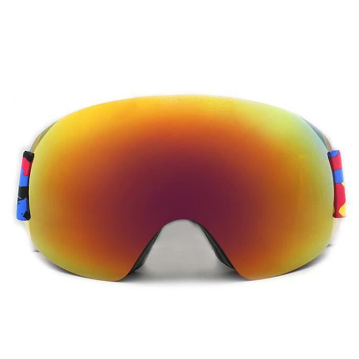 Lunettes de ski Juli femme et enfant Double verre sph/érique interchangeable Pour sports dhiver et snowboard Avec protection UV anti-bu/ée Pour homme